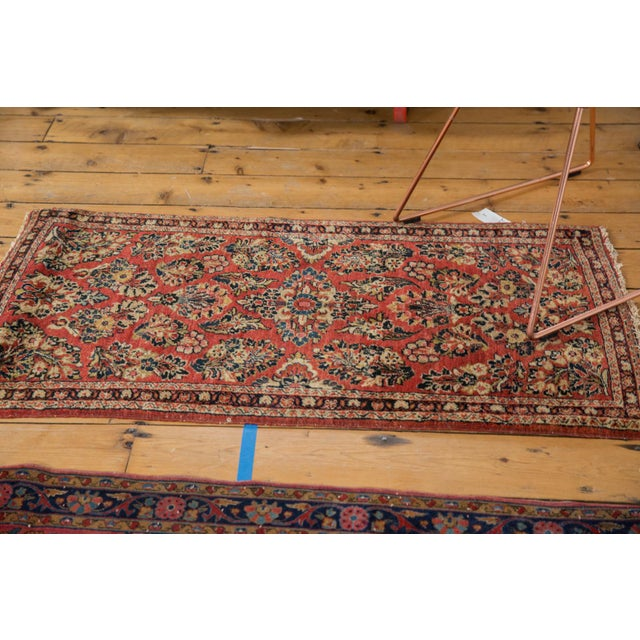 "Islamic Vintage American Sarouk Rug Runner - 2'2"" X 4'2"" For Sale - Image 3 of 11"