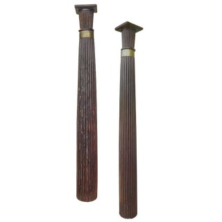 Anglo -Raj Rosewood Columns For Sale