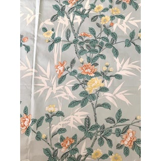 Bob Collins Cotton Bamboo Flowers Fabric 2 Yards For Sale