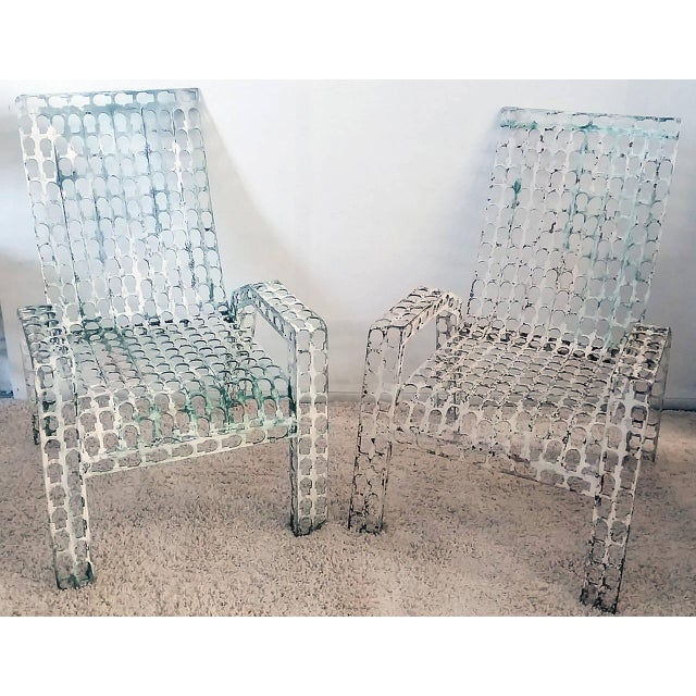 Metal 1970s Folk Art Pressed and Welded Steel Lounge Chairs - a Pair For Sale - Image 7 of 8