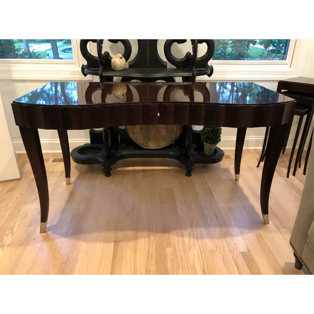 Black Barbara Barry Baker Black Lacquered Desk For Sale - Image 8 of 8