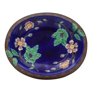 1880s Victorian Majolica Platter For Sale