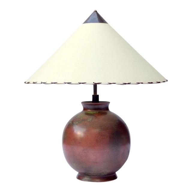 Fritz Haussmann Ceramic Lamp, Switzerland, 1930s For Sale