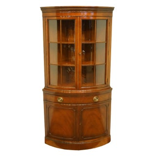 Drexel Heritage New Travis Court Collection Duncan Phyfe Corner Curio / China Cabinet For Sale