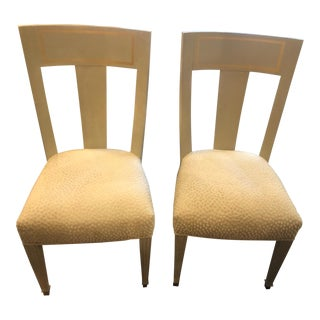 Grey Gustavian Style Dining Chairs - A Pair For Sale