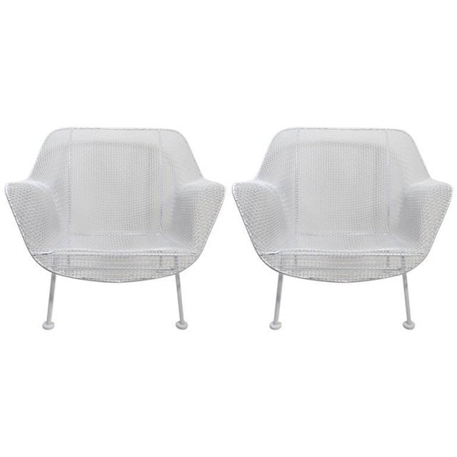 Pair of Woodard Lounge Chairs Freshly Powder Coated For Sale - Image 9 of 9