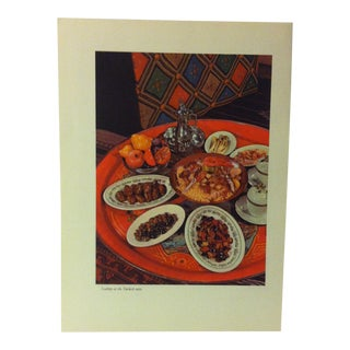 """1957 """"Scallops at Turkish Table"""" the Influence of the Shell to Humankind Print For Sale"""