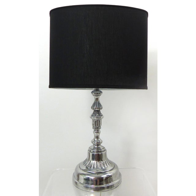 Cast Nickel Table Lamp - Image 2 of 8