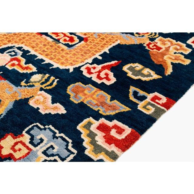 Tibetan Dragon Area Rug-3′ × 6′ For Sale - Image 4 of 8