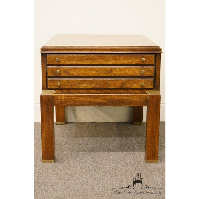 Contemporary 20th Century Contemporary Lane Furniture Bookmatched Walnut End Table For Sale - Image 3 of 13