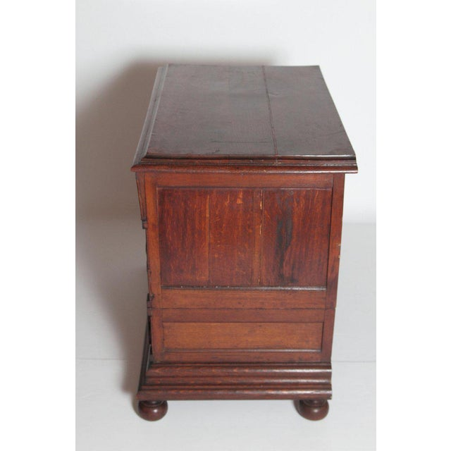 Mid 19th Century A Late 19th Century Oak Jacobean Style Chest For Sale - Image 5 of 13