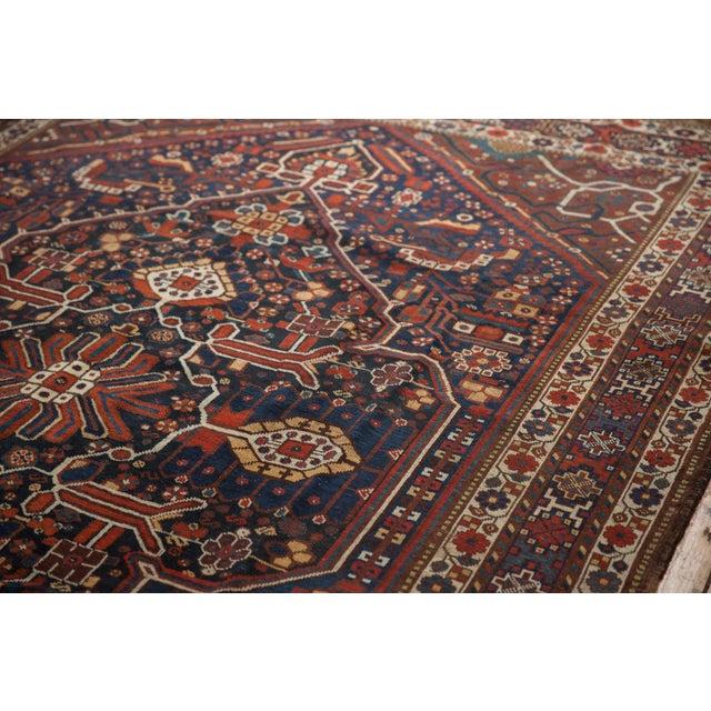 "Boho Chic Vintage Shiraz Carpet - 7'3"" X 10'2"" For Sale - Image 3 of 13"