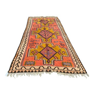 Vintage Distressed Kilim Rug For Sale