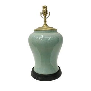Celadon Temple Jar Lamp