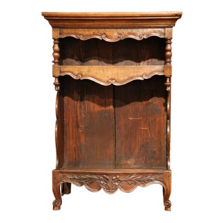 19th Century French Louis XV Carved Walnut Étagère For Sale