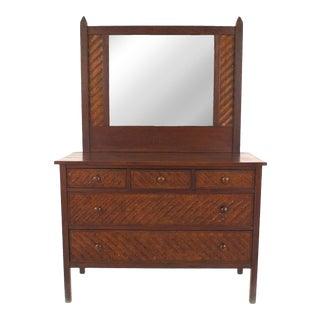 American Rustic Mission Oak Dresser For Sale