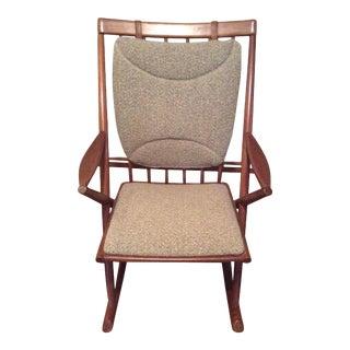 Bramin Mobler Frank Reenskaug Danish Mid-Century Modern Teak Rocking Chair, 1960s