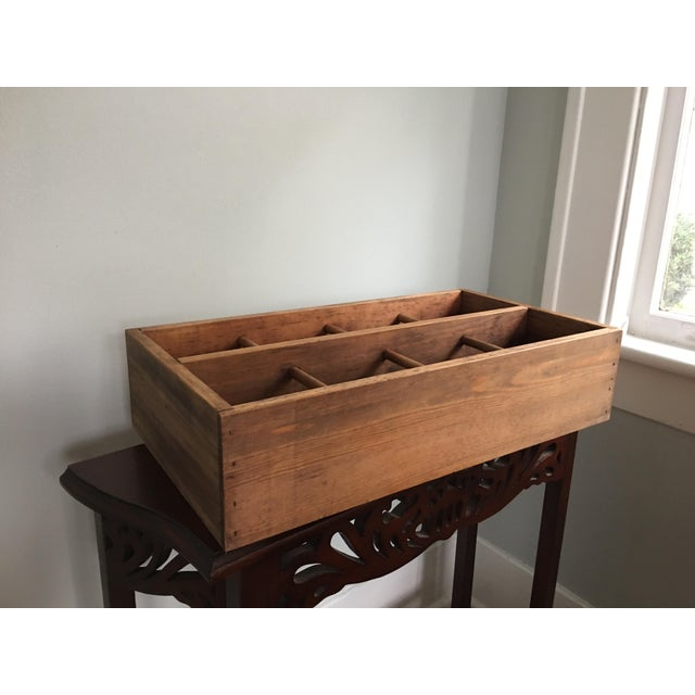 Brown 20th Century Country Napa Valley Wooden Wine Crate For Sale - Image 8 of 8