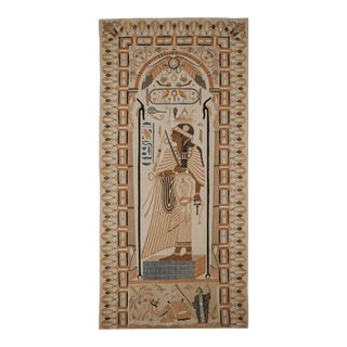 1890's Antique Egyptian Cotton Applique Tapestry For Sale