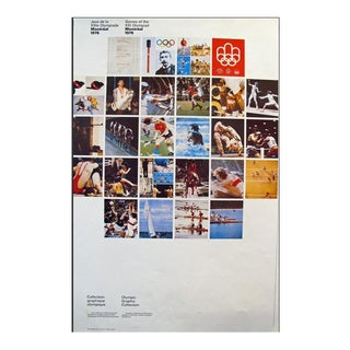1976 Montreal Olympic Poster, One-Sided, Mosaic Official Olympic Posters - Cojo For Sale