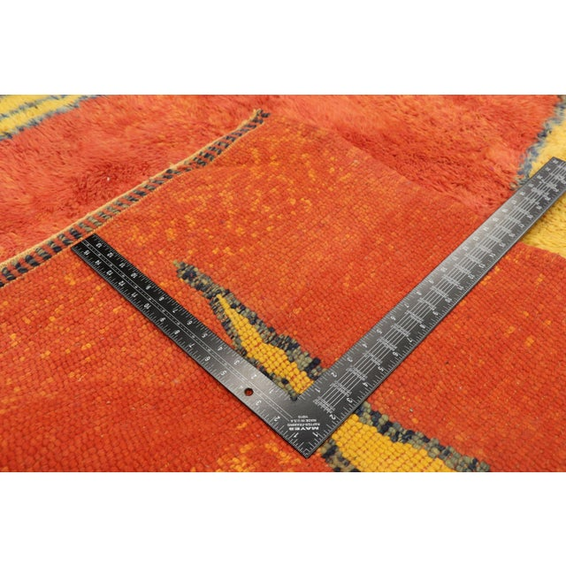 2010s Moroccan Contemporary Rug Inspired by Paul Klee - 07'01 X 09'09 For Sale - Image 5 of 10