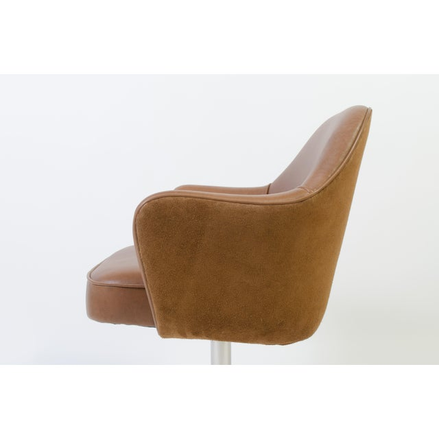 Saarinen for Knoll Saddle Leather & Suede Desk Chair - Image 6 of 9