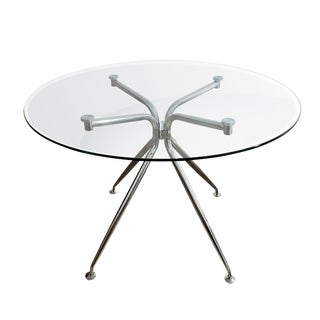 Modern Chrome and Glass Atos Dining Table For Sale
