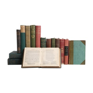 Vintage British Poetry Collection - Set of Fifteen Decorative Books