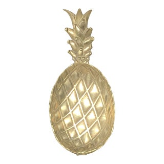 Vintage Brass Pineapple Tray For Sale