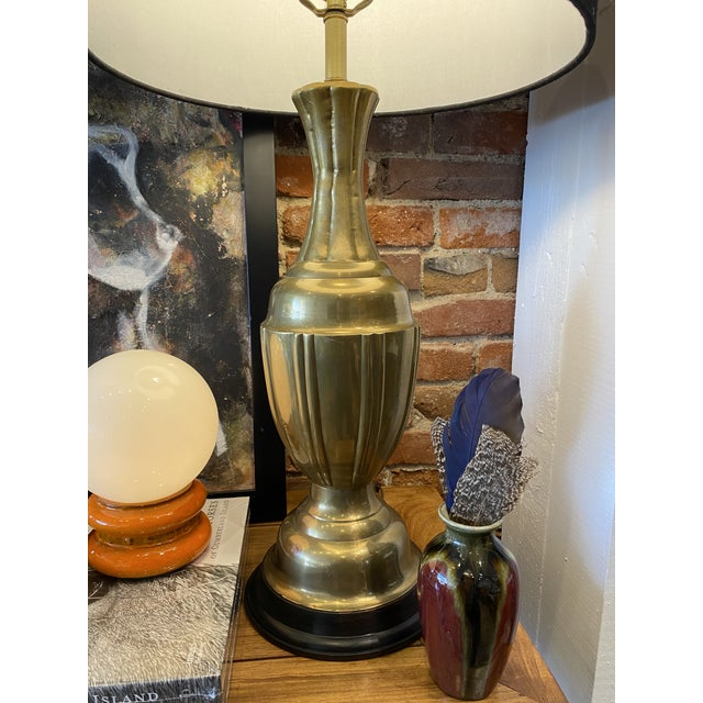 The Marbro Lamp Company Mid-Century Modern Brass Lamps by Marbro Brass Lamps - Pair For Sale - Image 4 of 10