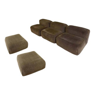 1970s Mario Bellini Le Mura Modular Sofa Set - 5 Pieces For Sale