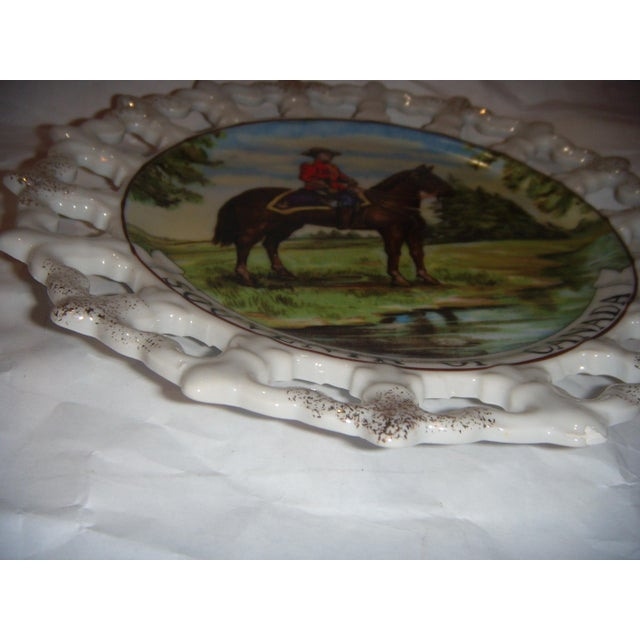Royal Canada Hand-Painted Mounties Plates - A Pair - Image 6 of 8
