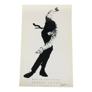 """1991 Robert Longo """"Men in the Cities"""" Offset Lithograph For Sale"""