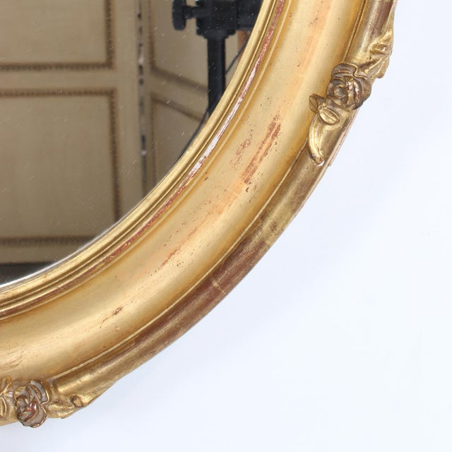 French Louis XV Style Giltwood Oval Mirror For Sale In San Francisco - Image 6 of 11