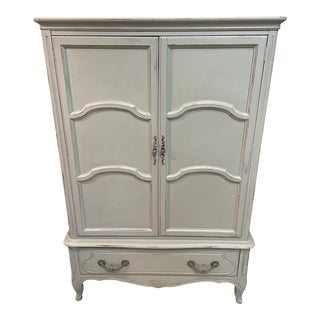 Antique Davis Cabinet Company Painted Wardrobe For Sale
