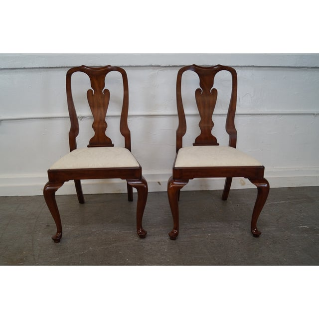 Henkel Harris Cherry Wood Queen Anne Chairs - 6 - Image 6 of 10
