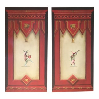 Vitorio Splendore Original Hand-Painted Italian Oil Panels - A Pair For Sale