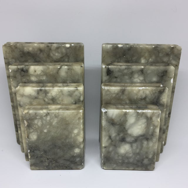 Marble Stacked Books Bookends - A Pair - Image 6 of 8