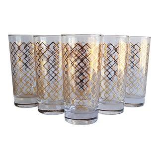 Gold Highball Glasses - Set of 6