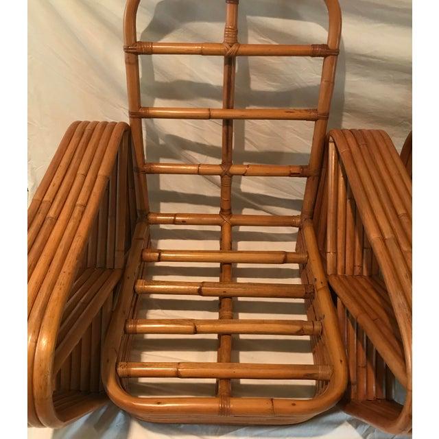 Peachy Paul Frankl Mid Century Bent Rattan Lounge Chairs A Pair Machost Co Dining Chair Design Ideas Machostcouk
