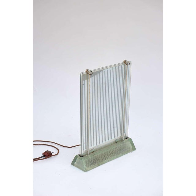1930s Museum Quality Glass Radiator by René Coulon for Saint-Gobain For Sale In Los Angeles - Image 6 of 6