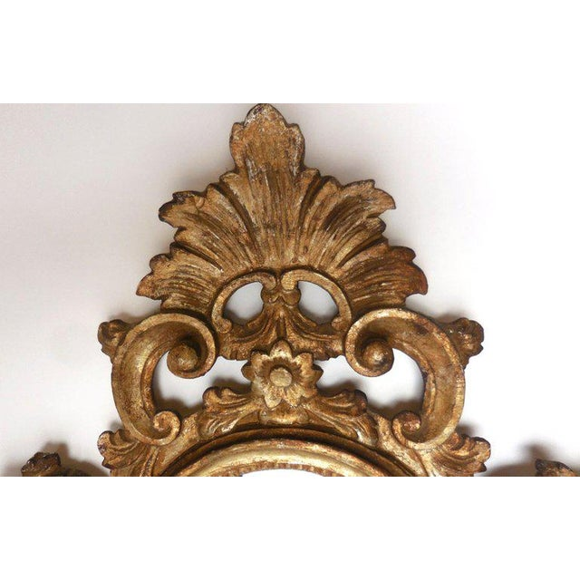 Early 19th Century Pair of Italian Giltwood Mirrors For Sale - Image 5 of 13