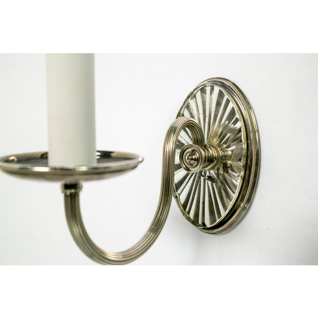 Early 20th Century Caldwell Mirrored Silver Sconces (pair) For Sale - Image 5 of 7
