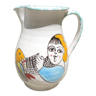 Mid-Century Italian Ceramic Pitcher