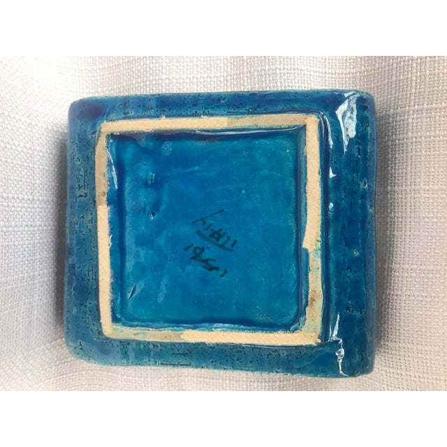Ceramic 1960s Bitossi Rimini Blue Ashtray Platter Catchall Aldo London For Sale - Image 7 of 10
