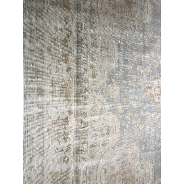 "Distressed Turkish Oushak Rug - 9'5"" X 12'8"" - Image 4 of 9"