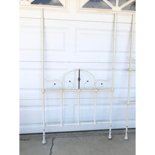 Antique Romantic Iron Twin Size Headboard and Footboard - 2 Pieces Preview