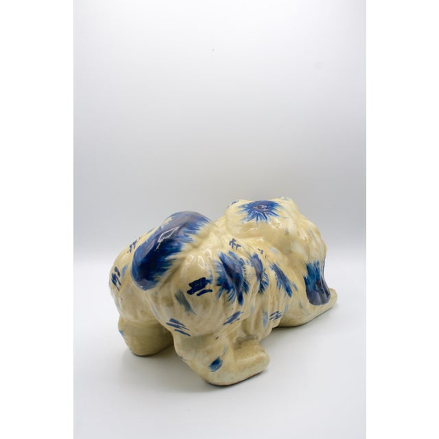 1920s Staffordshire Style Puppy Figurine For Sale - Image 5 of 6