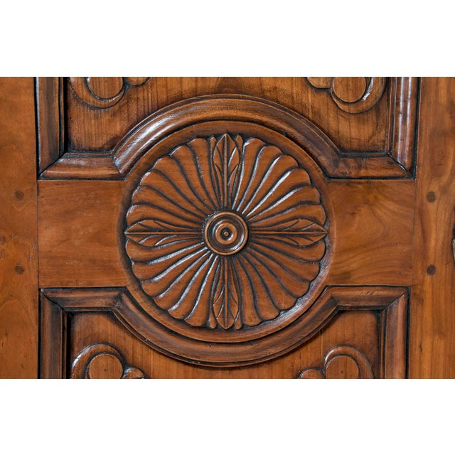 Wood 19th Century Walnut Italian Armoire For Sale - Image 7 of 9