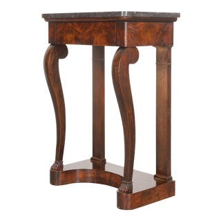 19th Century French Petite Burl Rosewood Restauration Console For Sale